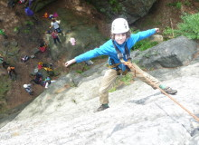 Klettern im nahegelgenem Gebirge - Klassenfahrt Herberge Bahra